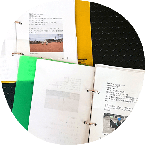 連絡帳・アルバム|茨城県つくば市の犬のしつけ・訓練・トレーニングなら「ドッグスクール山口」